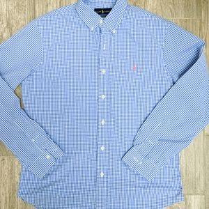 2/$30 Polo Ralph Lauren Blue/White Button Down